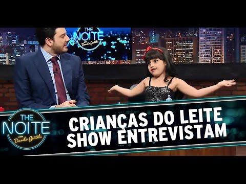 The Noite (10/10/14) - Crianças do Leite Show entrevistam Danilo Gentili