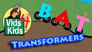 Word Transformers Part 2 - Cars Transform Into Words For Kids