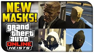 GTA 5 Online ALL NEW HEIST MASKS! (Heists DLC) [GTA V