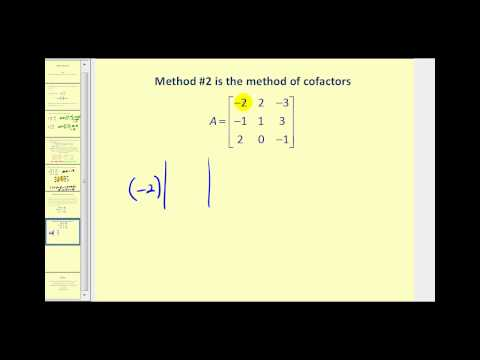 Matrix Determinants