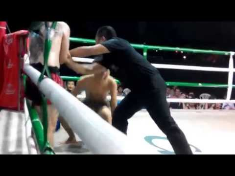 Jacob Sit Thaharnaek (Jake Heide) July 3, 2014 Kalare boxing Stadium Chiang Mai, Thailand