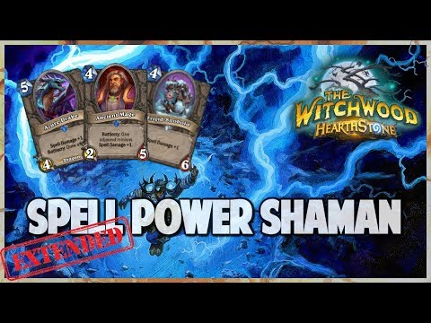 Spell Power Shaman | Extended Gameplay | Hearthstone | The Witchwood