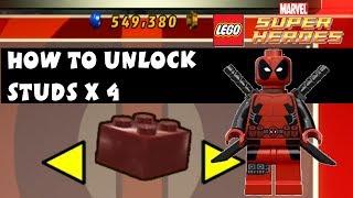 Lego Marvel Super Heroes How To Unlock Studs X4 Deadpool
