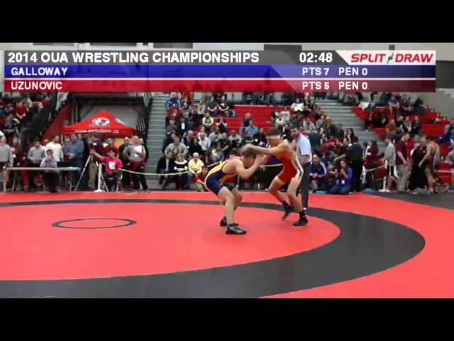 2014 OUA Championships: 57 kg Elvir Uzunovic vs. Dylan Galloway