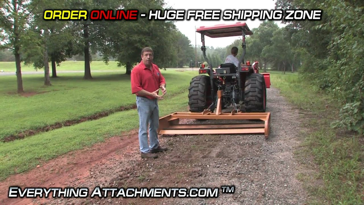 How To Tractor Land Plane Gravel Road Maintenance
