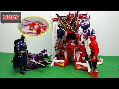 Robot siêu nhân hải tặc đánh Superman trộm trứng khủng long Dinobot Transformer của Batman