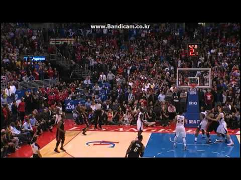 Ray Allen's Clutch 3Point & LeBron James Clutch Defense! vs Clippers (2014.02.05)