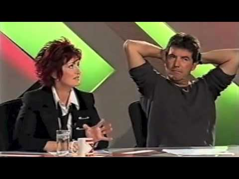 Sharon throws water over Simon Cowell