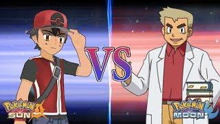 Pokemon Sun and Moon: Champion Ash Vs Professor Oak (Alternate Ash)