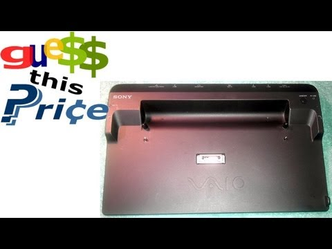 Sony Vaio Laptop Dock Station VGP-PRC1 - GUESS THIS PRICE - EBAY AUCTION GAME