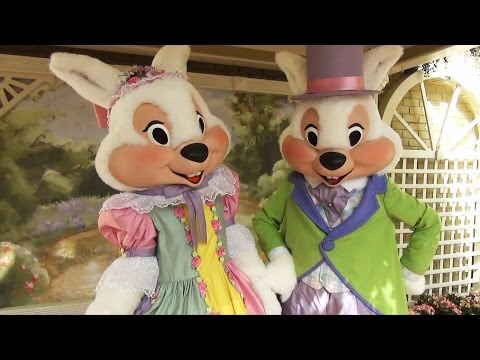 Mr  and Mrs Easter Bunny Meet and Greet  at Magic Kingdom 2014, Show Us The Peeps