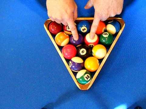 how to rack 8 billiards