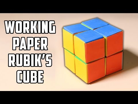 how to make a working rubik 39 s cube out of paper youtube. Black Bedroom Furniture Sets. Home Design Ideas