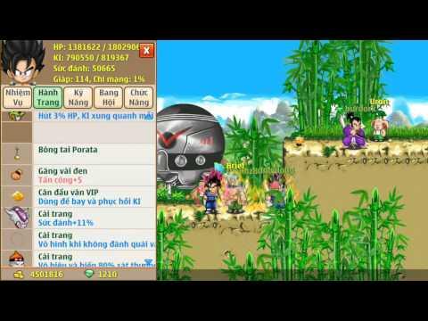 Ngọc rồng online-test kaio 2 đến 7 và skill dịch chuyển tức thời