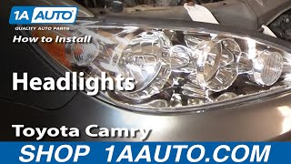 How To Install Replace Headlights Toyota Camry 02-06
