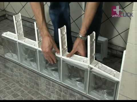 Segunda fila de bloques de vidrio vetroclick 8 de 14 youtube - Como colocar pladur en techo ...