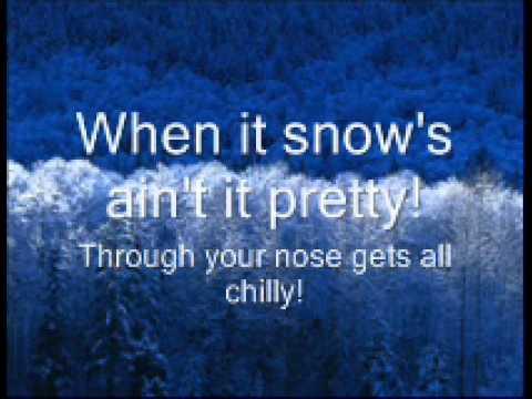Winter wonderland lyrics christmas song youtube
