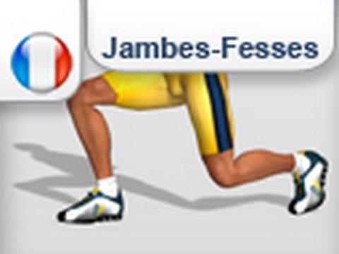 Exercice des jambes et fessier - Fentes (gym) - YouTube