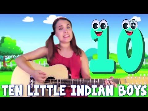 Ten Little Indian Boys | Nursery Rhymes | Counting Song | Kids Rhymes