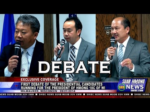 Suab Hmong News: FULL VERSION - First Debate of the Presidential Candidates for the Hmong 18C of WI