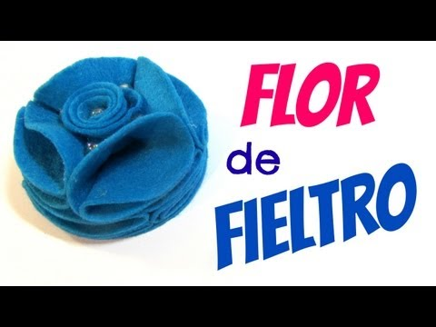 Tutorial: Flores de fieltro.