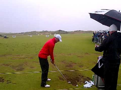 Marc Warren on the range at the 2012 Irish Open (Royal Portrush)