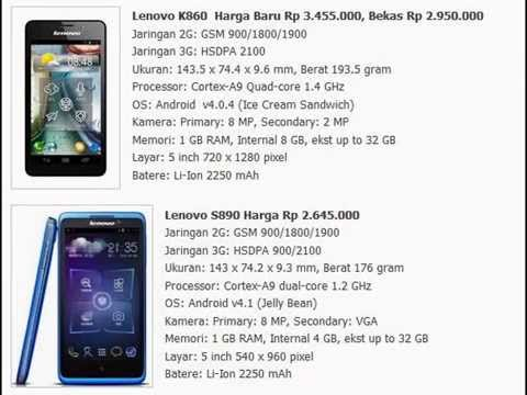 Harga HP Lenovo Android - YouTube