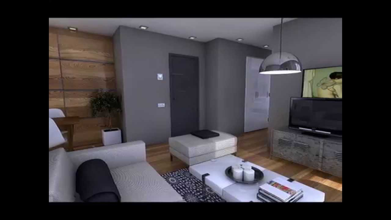 Dise o interior apartamento 50m2 youtube for Mini casa minimalista