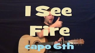 I See Fire (Ed Sheeran) Easy Strum Fingerstyle Guitar