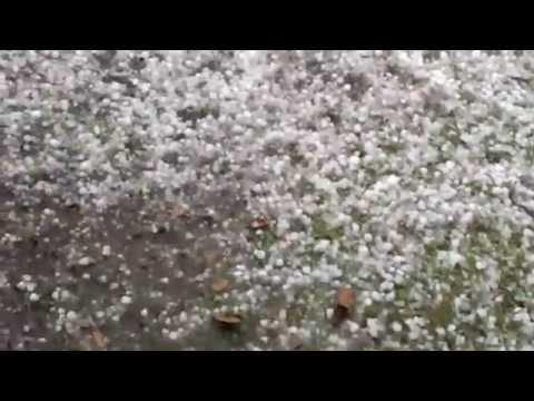 Hail storm in San Antonio Texas.