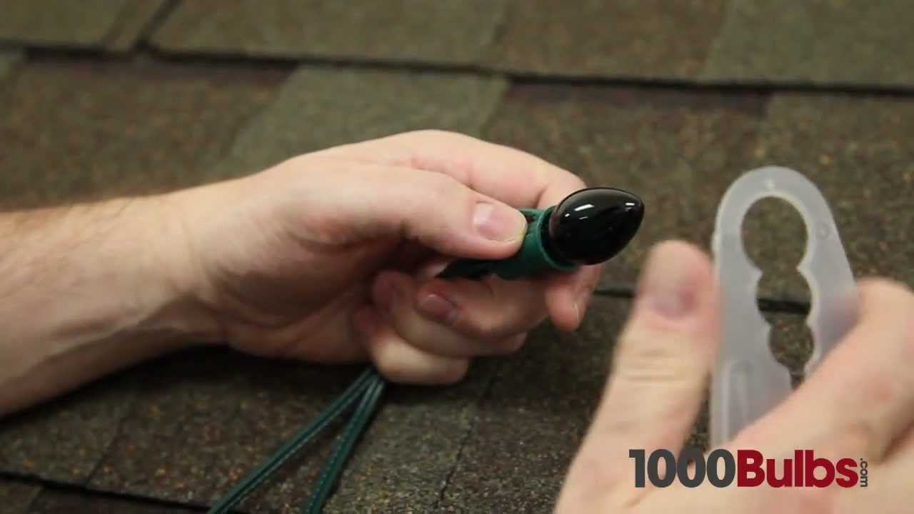 shingle speed tab christmas light clips youtube. Black Bedroom Furniture Sets. Home Design Ideas
