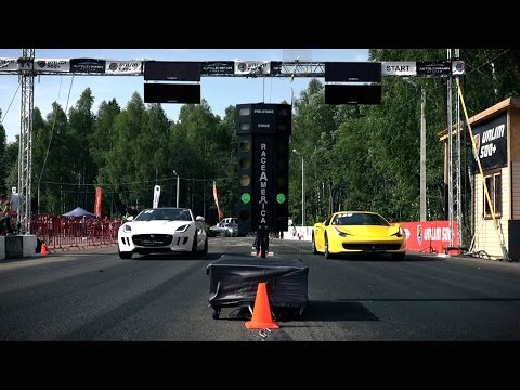 Ferrari 458 Italia, Jaguar F-Type R, Mercedes SL63 AMG (Top 3 fastest stock RWD Super car)