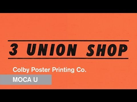 Thumbnail of video The Colby Poster Printing Company