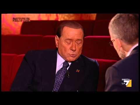 Piazzapulita - Intervista a Silvio Berlusconi: Napolitano, servizi sociali e gaffe tedesca