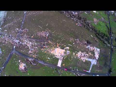 Aerial Drone Video of Tornado Damage in Vilonia and Western Pulaski County