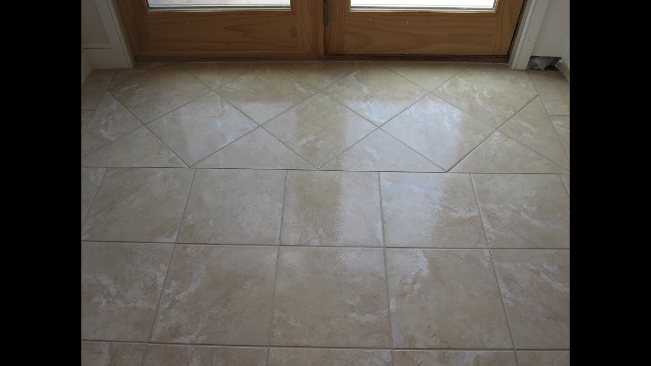 Ceramic Tile Basement Floor Part 1 YouTube