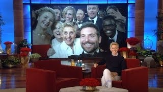 Ellen and Max Greenfield on the Oscar Selfie and Liza!