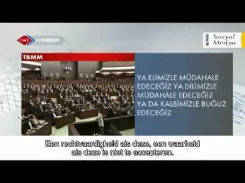 Erdogan speech israel gaza palestine nederlands