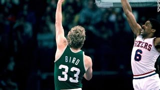 [Larry Bird dunks on Dr J during, The Fight Game] Video