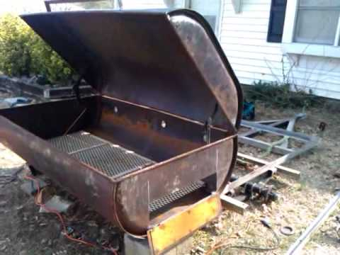 how to build a pig rotisserie