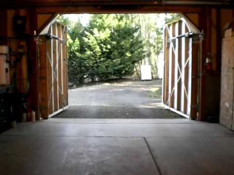 Automatic Hinged Dual Garage Door Opener Youtube