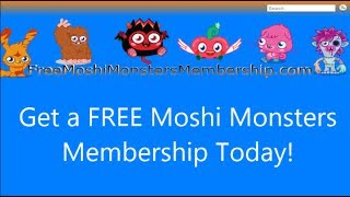 Free Moshi Monsters Membership January 2014