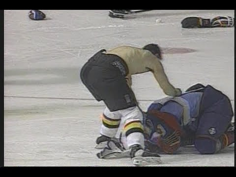 Gino gone mad - Gino Odjick against the St. Louis Blues