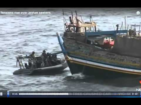 Tony Abbott turns back first boat Sept 28 2013