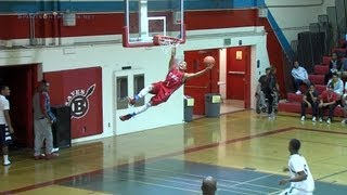 Basketball Player Re-Dunks His First Dunk