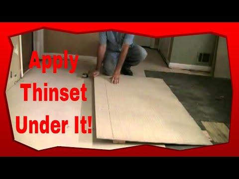 How To Install Hardie Board For Floor Tile Youtube