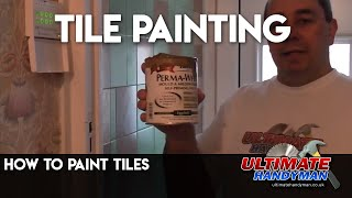 Painting over tiles