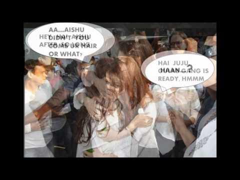 Aishwarya at Madhuri's Prayer Meet {funny Pics with Juhi Chawla}