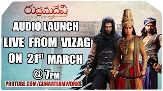 Rudhramadevi Audio Launch Live From Vizag – Anushka, Allu Arjun, Rana