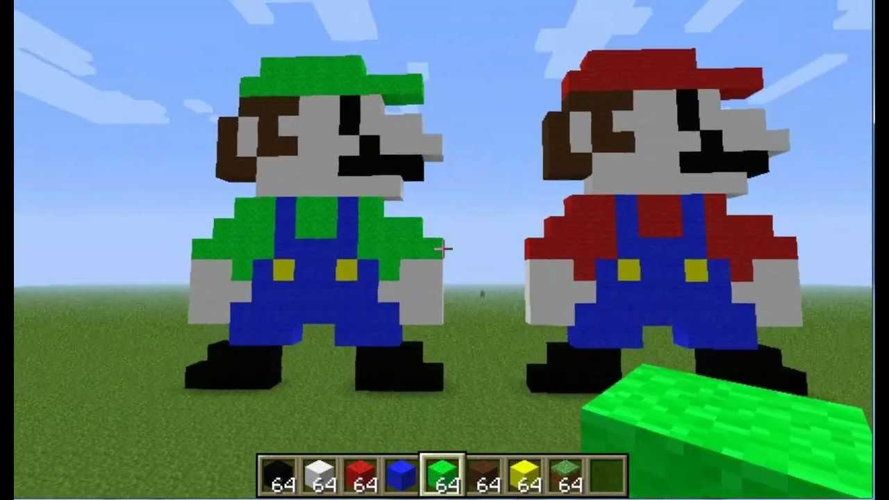 Minecraft Plantillas del arte del pixel: Luigi   Minecraft ...